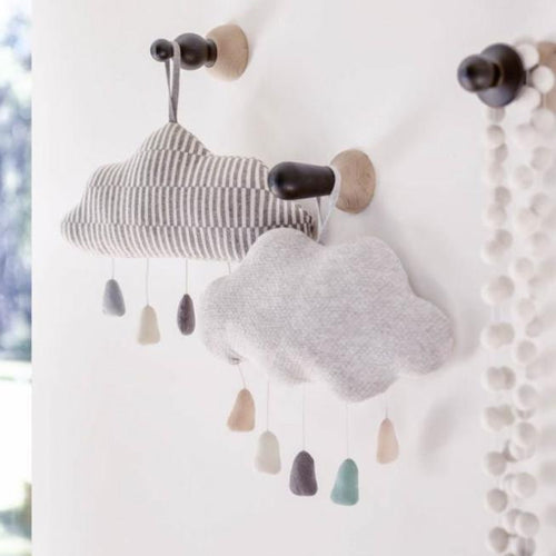 Indus Design Cloud Mobiles Grey and Grey Stripe