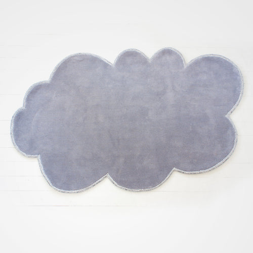 Modern cloud rug - cloudy/grey shade with silver sparkle lining. Great for nursery or kid's room.