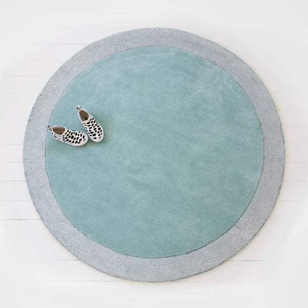 Silver Moon Wool Rug Icy Blue.
