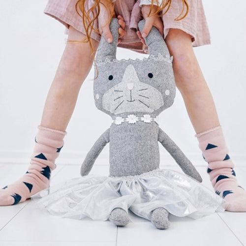 Polly cat is a luxurious wool blend soft toy that is Australian designed.