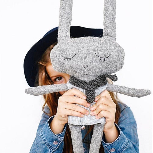 Lloyd rabbit is a modern kids toy by Australian designer And The Little Dog Laughed.