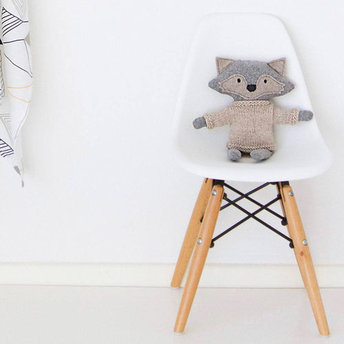 Heiko the fox is handcrafted by Australian designer And The Little Dog Laughed.