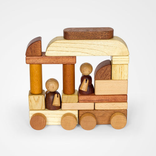 Magnetic Wooden Cars & Blocks. The perfect gift for children.