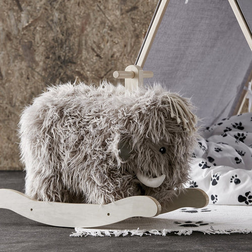Soft mammoth ride on is your modern take on the traditional rocking horse.