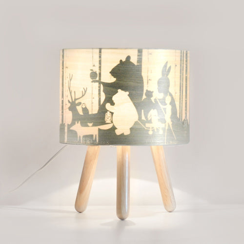 Micky & Stevie Kids Lamp with light on - Wild Imagination