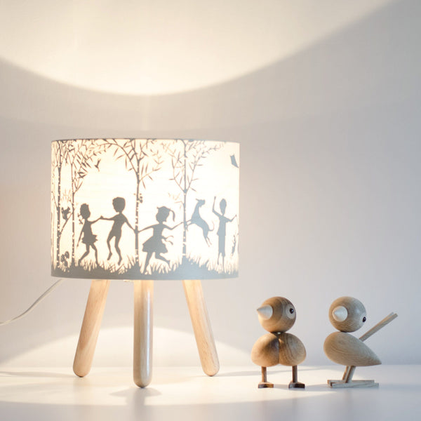 Micky & Stevie Kids Lamp with light on - In the woods