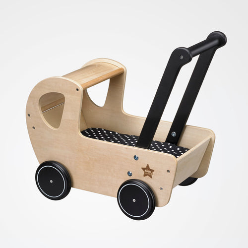 Kid's Concept wooden doll's pram NEO side view.