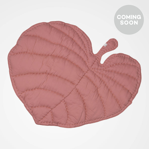 Rosa leaf shaped play mat. Perfect for the nursery or as a gift.