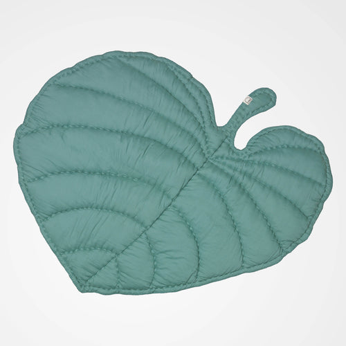 Green leaf shaped play mat. Perfect for the nursery or as a gift.