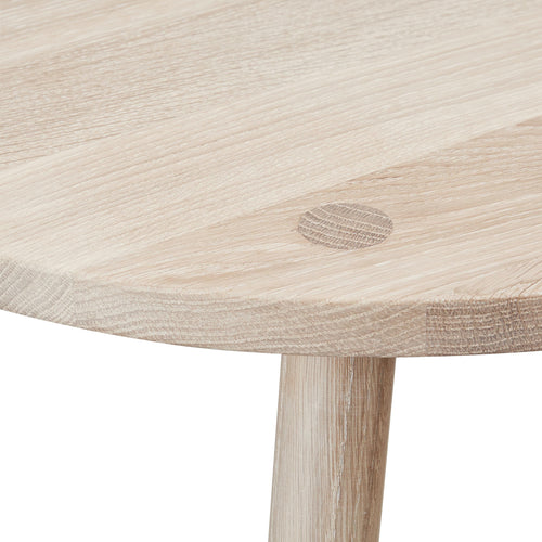 Close up of kids Nofred Mouse play table - oak.
