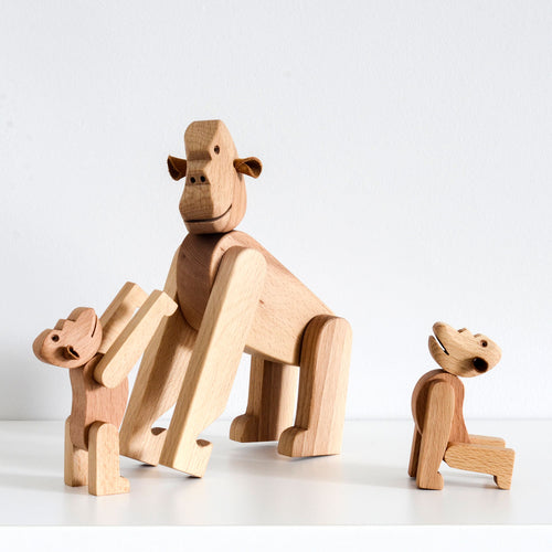 Mini Wooden Bjørn Gorilla