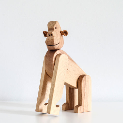 Orskov wooden gorilla. Nursery decor or child gift.