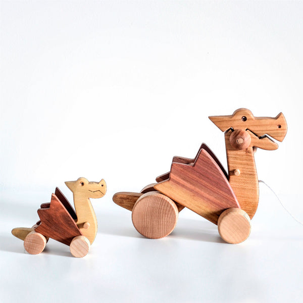 Wooden Dragon Pull Along Toy