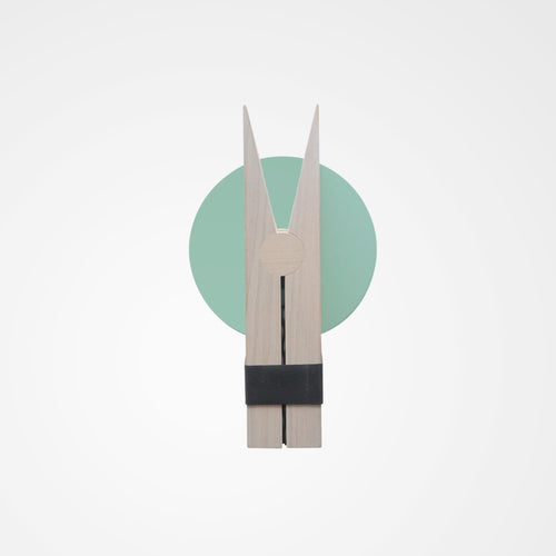 Mint green peggy clip wall hang. Scandi decor.