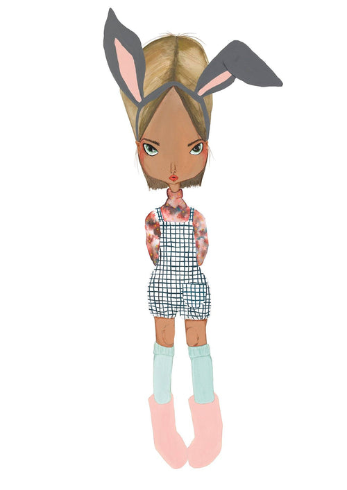 Sara Winfield The Dreamers Collection Pepper Bunny Print. For nursery or child's bedroom.