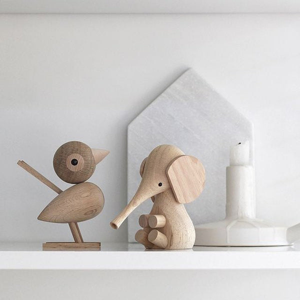 Wooden baby elephant is from Lucie Kaas' Gunnar Flørning Collection. A timeless classic - great as decor or child's keepsake.