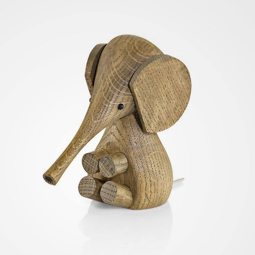 Baby elephant made from smoked oak wood is part of the Lucie Kaas Gunnar Flørning Collection.
