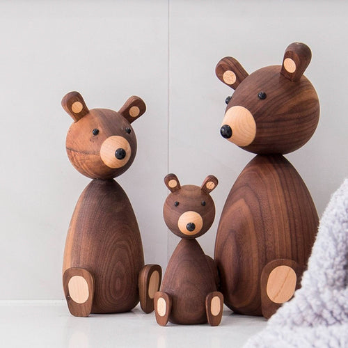 Danish designed, this wooden bear family are a timeless classic and child's keepsake.