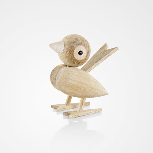 Wooden oak sparrow from Lucie Kaas Gunnar Flørning collection that celebrates mid century Danish design.