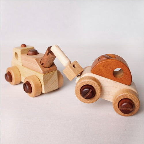 Wooden Cars & Toolkit Set