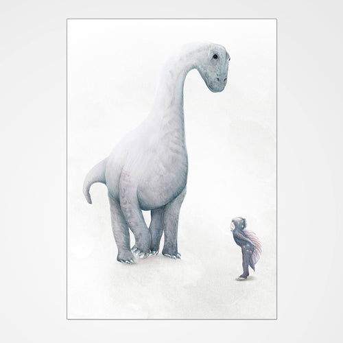 Dream of Dinosaurs print (Brachiosaurus) full print view