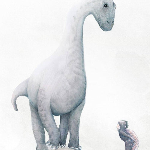 Dinosaur (brachiosaurus) print for kids bedroom or nursery.