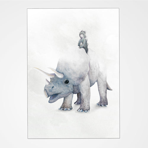 Dream Of Dinosaurs Print - Triceratops