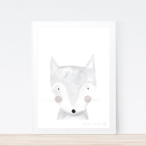 Cute fox nursery or kids bedroom print.