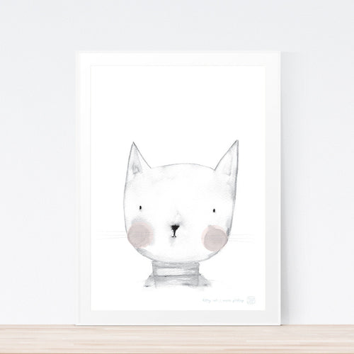 Cat print for nursery or kids bedroom.