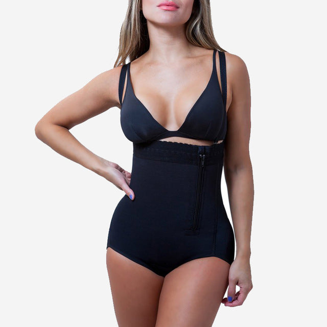 Women's Plus Size Latex Waist Cincher Bodysuit #1171D