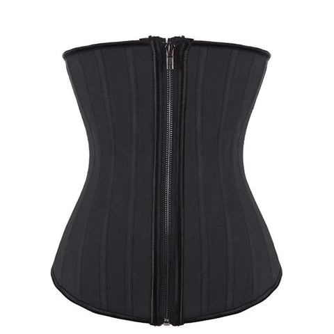 Zipper Latex Waist Shaper Corset #85608