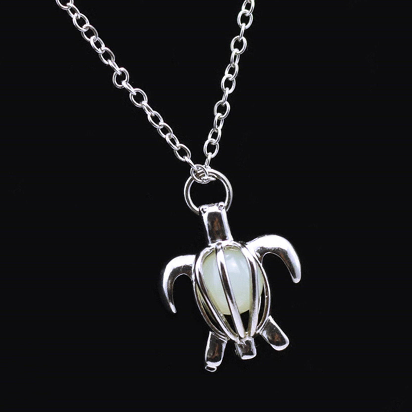 Glow in the dark turtle necklace save envy glow in the dark turtle necklace aloadofball Gallery