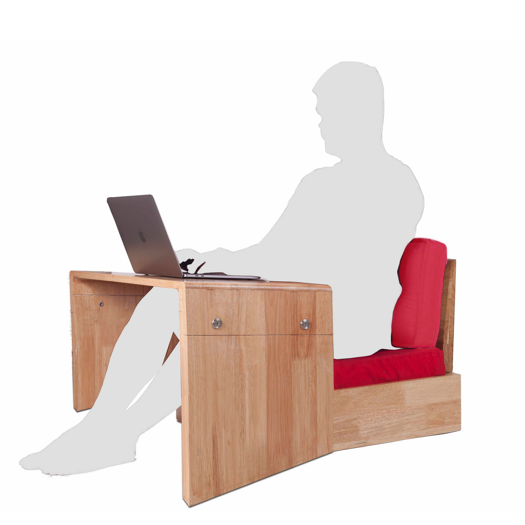 COMBO 1- BIG Study Table with Hermit Wooden Chair