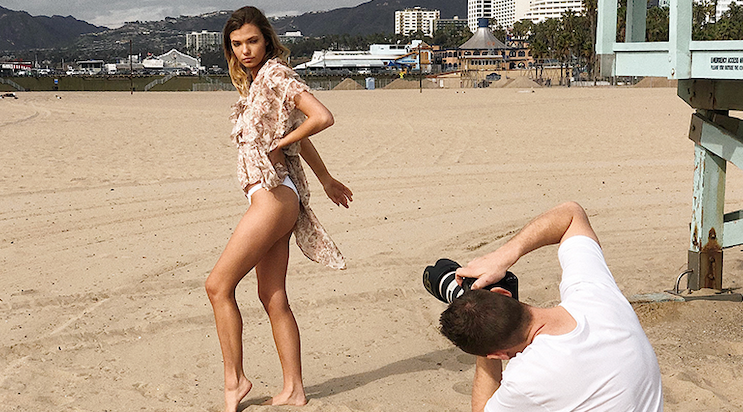 BTS with LA photographer, Jeremy Gudac
