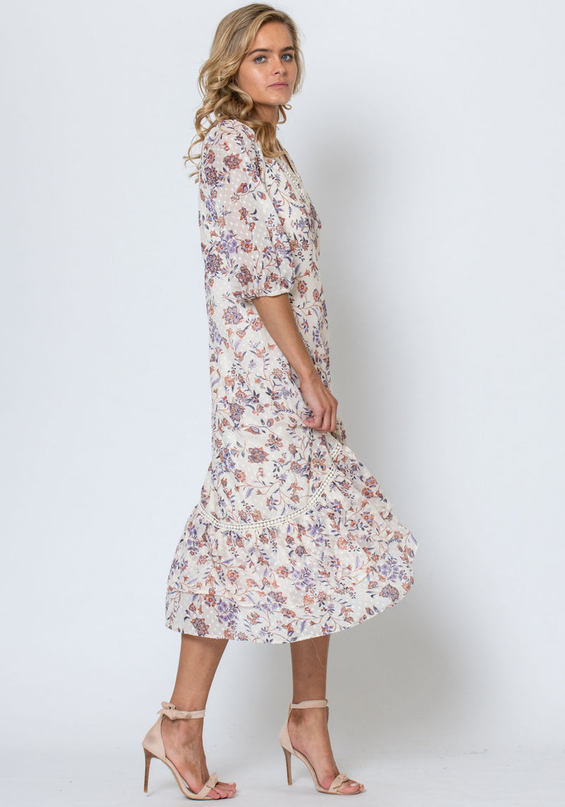 Temple Floral Paradise Printed Midi Dress by Three of Something Sydney Australia