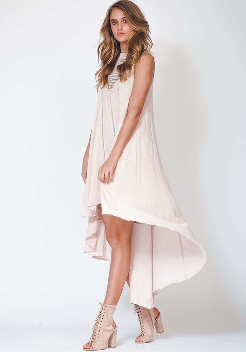 Beyond The Breakers Dress - Blush - THREE OF SOMETHING