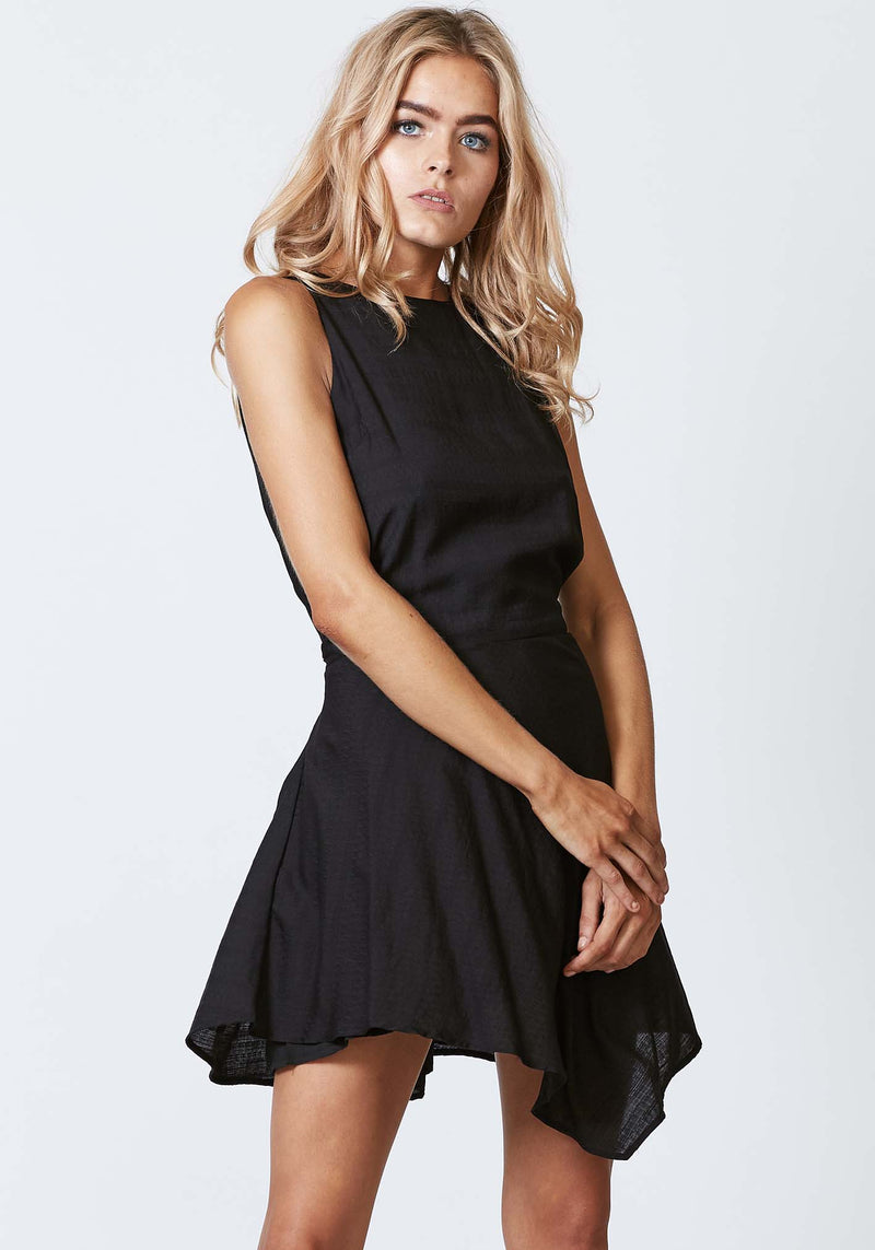Pocket Watch Black Mini Dress by Three of Something Sydney Australia
