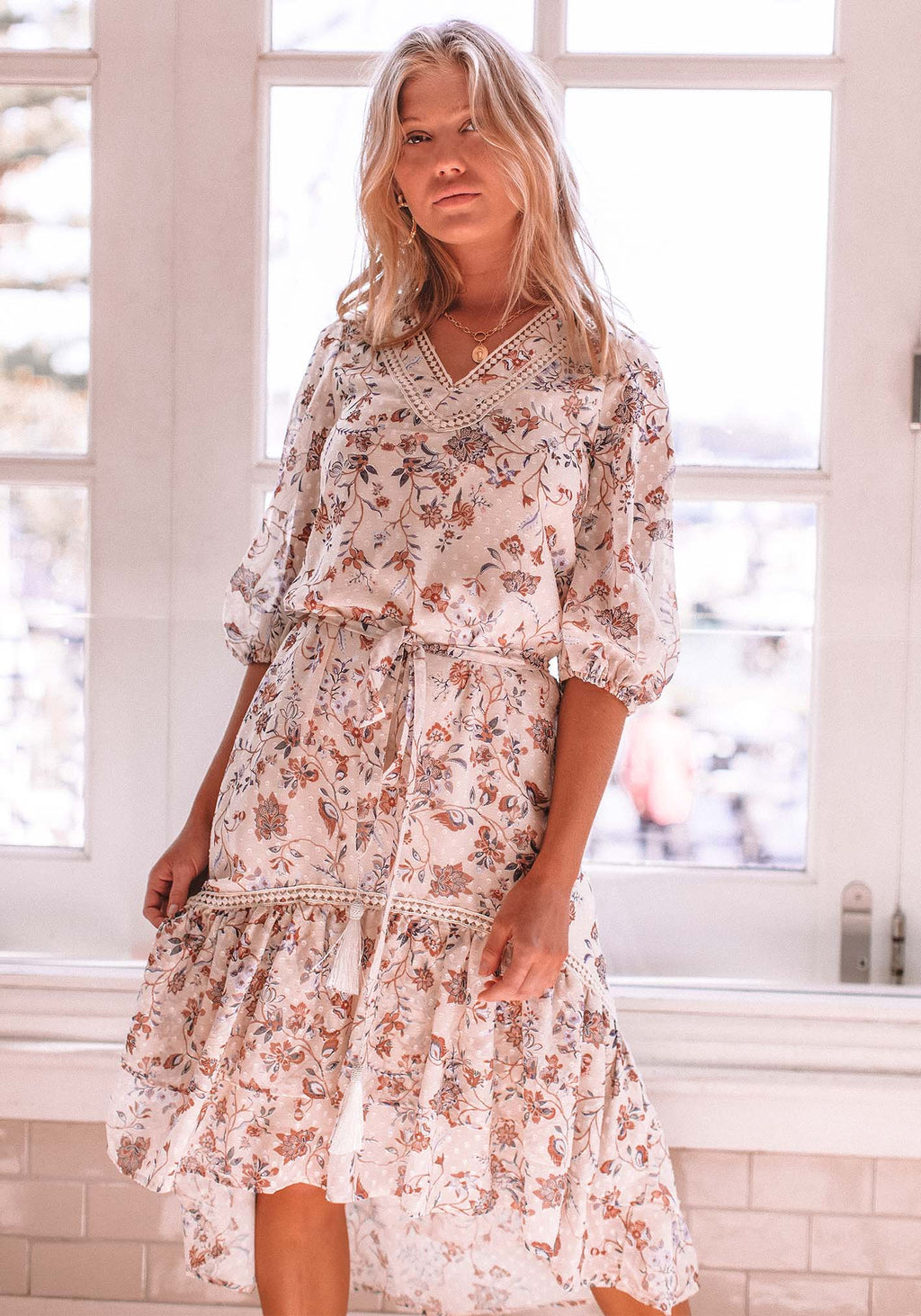 Temple Floral Paradise Dress - Floral High Low Dress