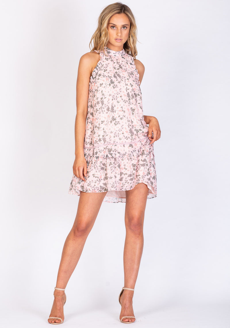 Boardwalk Floral Manhattan Dress Printed Floral Sleeveless Mini Dress by Three of Something
