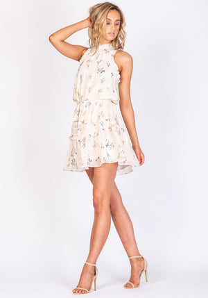 Golden State Manhattan Floral Printed Mini Dress - Three of Something Sydney Australia