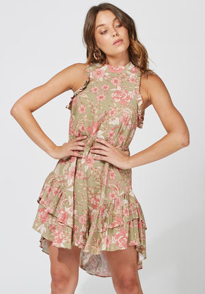Sorcery Floral Effect Party Dress by Three of Something Sydney Australia