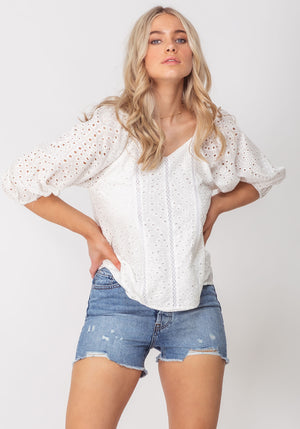 The August Short Sleeve Blouse by Three of Something Sydney Australia