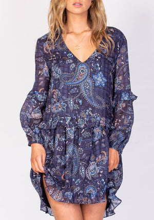 Boulevard Cruise Dress Paisley Party Dress by Three of Something Sydney Australia
