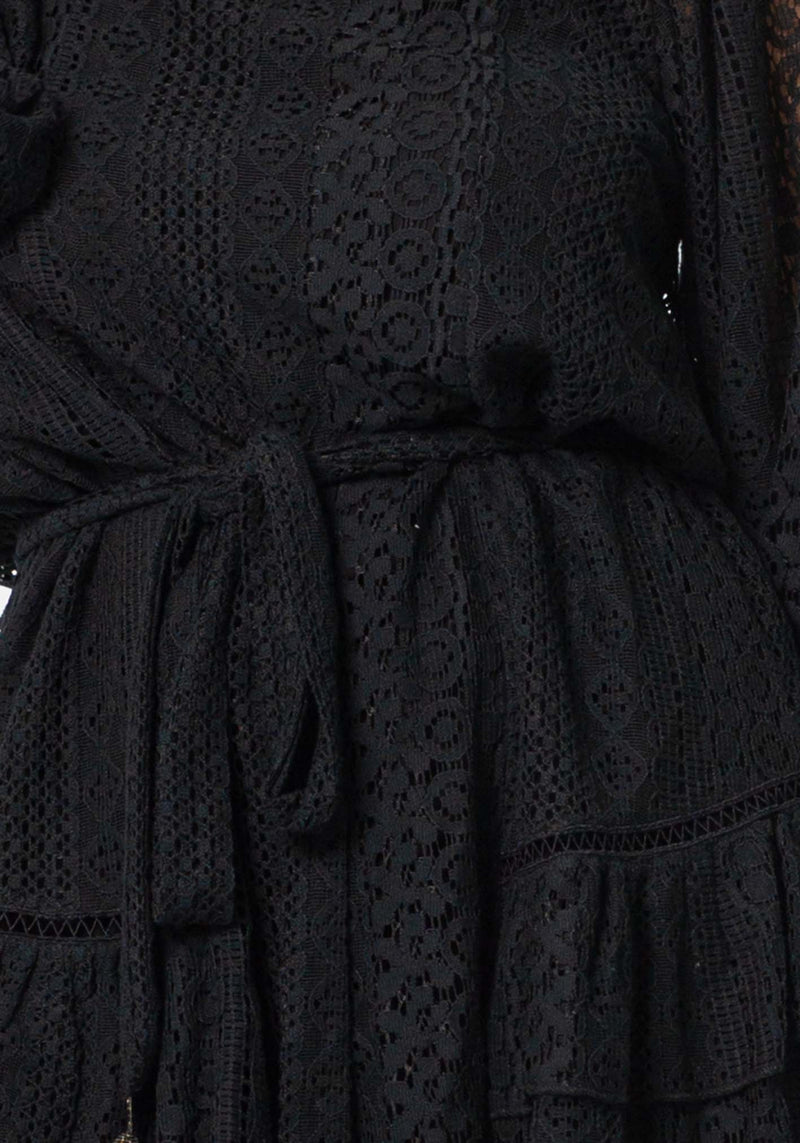 Catalina Black Lace Party Dress by Three of Something Sydney Australia