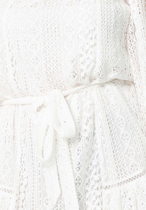 Catalina Lace Dress | White