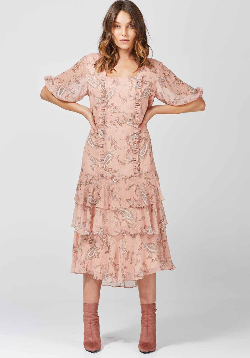 Cybele Paisley Ashanti Dress printed paisley dress by Three of Something