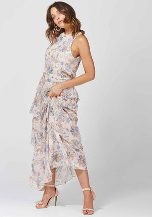 Friday Floral Horoscope Maxi Dress by Three of Something Sydney Australia