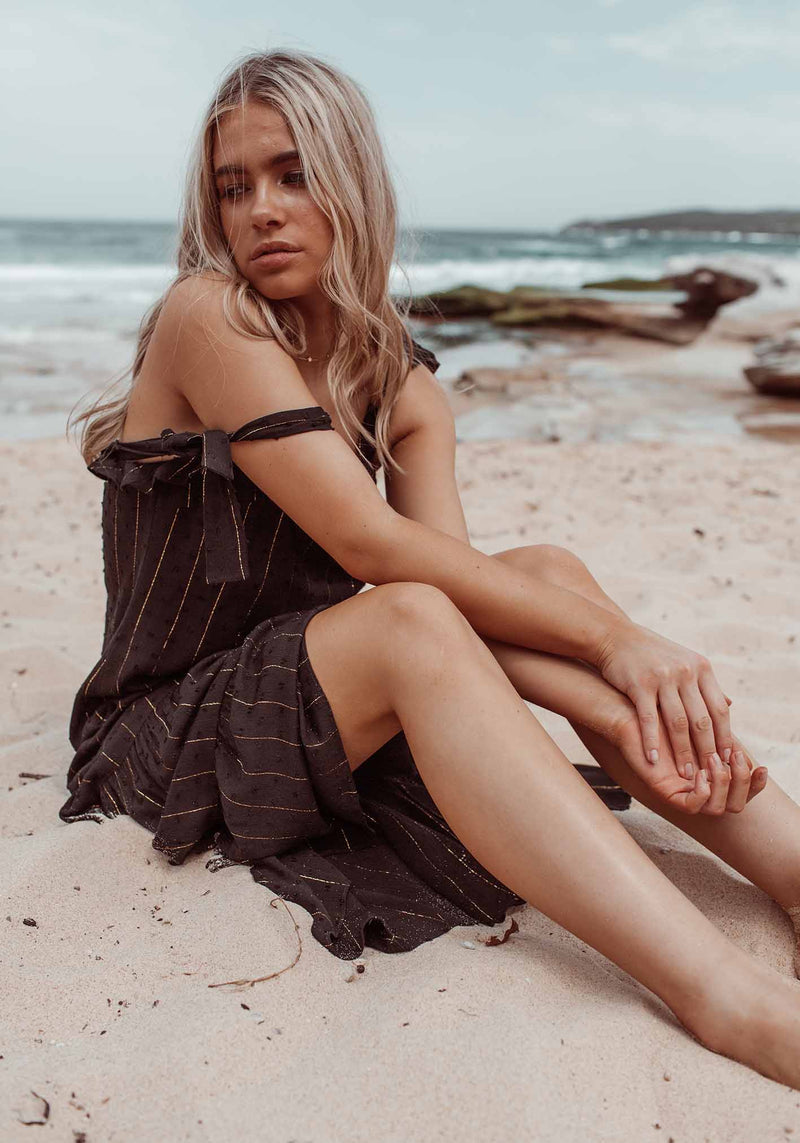 Get Away Summer Black Maxi Dress by Three of Something Australia