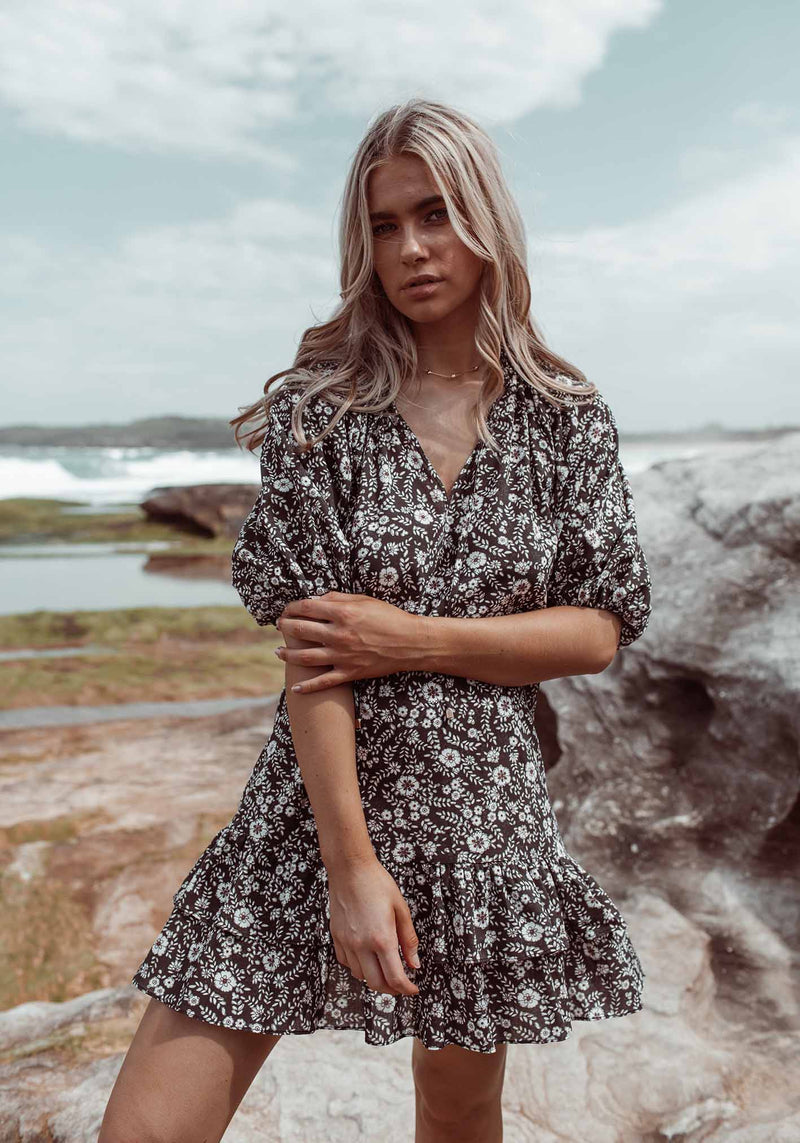 Gia Floral Chance Floral Party Dress by Three of Something Sydney Australia