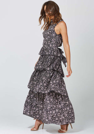 Gia Floral Horoscope Floral Maxi Dress by Three of Something Sydney Australia